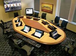 conference table with recessed monitors computer conference tables line of sight computer tables video