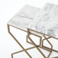 marble top nesting tables colton marble top nesting table accent tables bed down furniture
