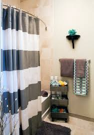 small apartment bathroom ideas remarkable ways to inspire with striped curtains small bathroom