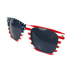 Flag Sunglasses Wholesale Plastic Frame Retro American Or England National Flag