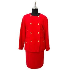 chanel red bouclé tailleur set your go to shopping place for