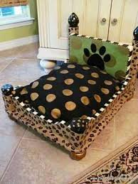 dog beds made out of end tables dog bed upside down end table or foot stool yorkie pinterest