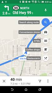 Google Maps Routing by Google Maps V9 26 1 Adds Search Along Route For Walking And