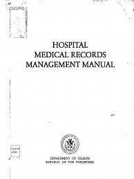 hospital medical records management manual medical record patient