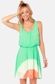 cute mint dress color block dress 42 00