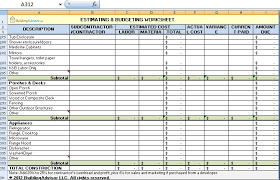 estimating and budgeting worksheet download in excel format
