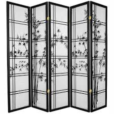 6 ft black 4 panel ching ming festival room divider lcq scr chmi