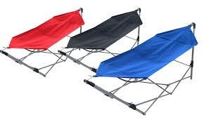 stalwart portable hammock with frame stand and carrying bag groupon