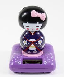Japanese Home Decor Store by Solar Power Toy Purple U0026 Pink U0026 Red Kimono Cute Geisha Japanese