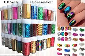 metallic nail foil wraps 50 x nail foils wraps transfer glitter sticker decal