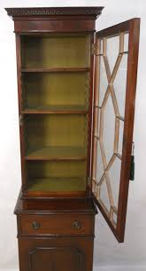 Narrow Mahogany Bookcase Style Mahogany Small Narrow Bookcase Cabinet