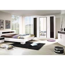 chambre à coucher complète dublin adulte design blanche lit 140x190
