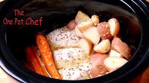 one pot slow cooked chicken dinner one pot chef youtube