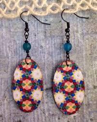 decoupage earrings up cycled cardbaord cereal box decoupage earrings positve vibes