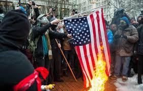 Flag Burning Protest Man Creates Viral Response To Flag Burning At Portland Protest Katu