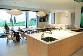 cuisine avec ilot central pour manger ilot table cuisine cuisine avec ilot central et grande table a