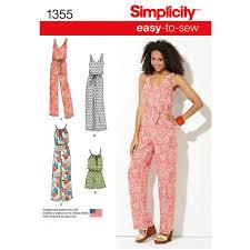 jumpsuit stitching pattern sewing pattern simplicity 1355 jumpsuit at stitch studio uk