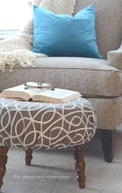 Ottoman Footstools Diy Ottoman Makeover An Easy Way To Recover A Footstool