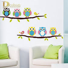 tree bird wall decal promotion shop for promotional tree bird wall vinyl tree bird wall decals owls wall stickers for kids rooms decoration sticker mural anime poster adesivo de parede