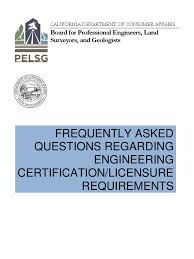california pe licensing faq geotechnical engineering engineer
