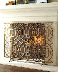 decorative fireplace screen fire wrought iron screens for gas fireplaces home