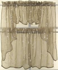 amazon com savannah linen look embroidered valance taupe home