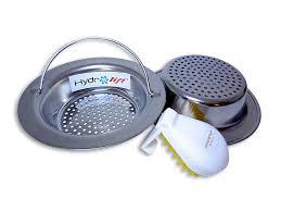 Hydrolift Easy Handle Kitchen Sink Strainer Get  Stainless - Stainless steel kitchen sink strainer