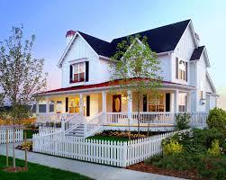 denver metal porch railing exterior farmhouse with curb appeal