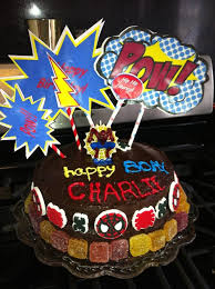 diy last minute superhero birthday cake motherburg