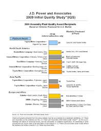 lexus leads 2009 jd power initial quality study the torque report