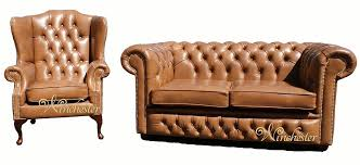 Chesterfield Sofa Suite Chesterfield 2 Seater Settee Wing Chair Leather