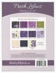 fresh lilacs quilt pattern by shabby fabrics