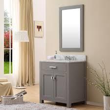 34 Bathroom Vanity Cabinet Daston 30 Inch Gray Finish Single Sink Bathroom Vanity