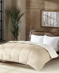 Colored Down Alternative Comforter Premier Comfort Reversible Micro Velvet And Sherpa Down