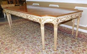 large ej victor newport mansions regency style inlaid walnut