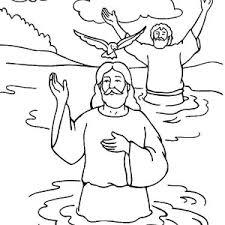 cartoon jesus baptism coloring pages place color
