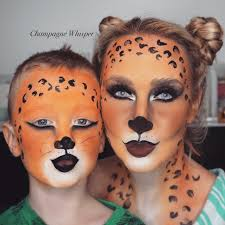 leopard halloween fancy dress face paint tutorial kids or adults