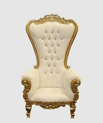 Throne Chair Gold And White High Backed Throne Chair Royalty Furniture Store
