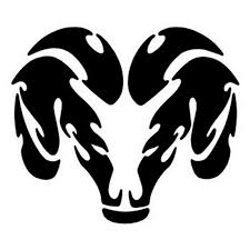 cool black tribal ram head tattoo design tattooimages biz