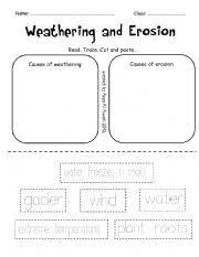 weathering and erosion weathering and erosion worksheets and