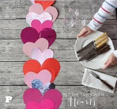 valentine s day table runner set the table with hearts pysselbolaget fun easy crafts for kids