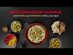 Indian Food Olives From Spain Mediterranean Hummus With Gordal And Manzanilla Olives From Spain