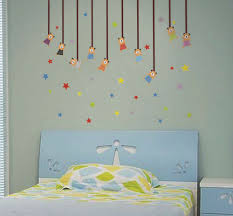 childrens kids bedroom sun and clouds wall art stickers boys decal grass wall decal