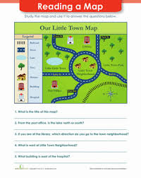 map reading practice map reading worksheet education com
