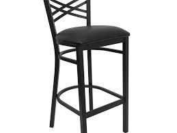 bar stools exceptional black back metal bar stool with black