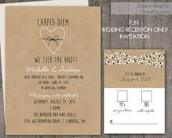 reception only invitations wedding reception only invitations on kraft paper rustic wedding