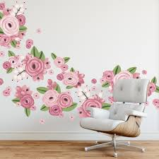 graphic flower clusters large floral wall decals
