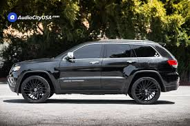 jeep cherokee black 2015 2015 jeep grand cherokee 22 lexani wheels wraith gloss black