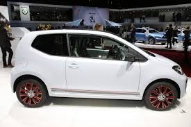 volkswagen up white vw tries to raise its game up in geneva