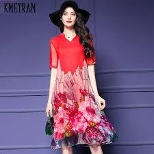 online get cheap plus size red summer dresses aliexpress com